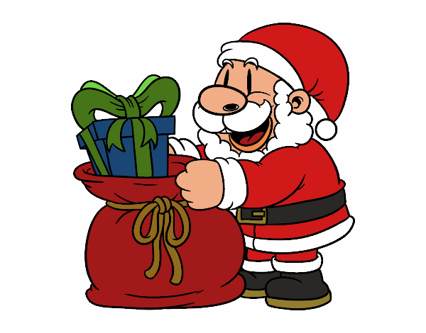 Papai Noel que dá presentes