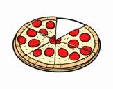 Desenho Pizza italiana pintado por tania22