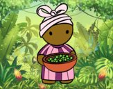 Desenho Rapariga africana pintado por dudacolor