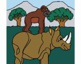 Desenho Rinoceronte e gracioso pintado por Craudia