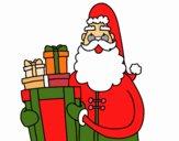 Santa Claus com presentes