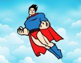 Superman a voar