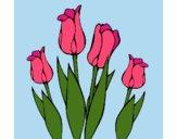 Desenho Tulipa pintado por Craudia