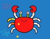 Desenho Um caranguejo de mar pintado por VivianeAze