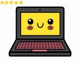 Um computador portátil