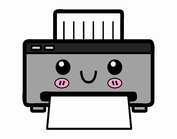 Desenho De Uma Impressora Pintado E Colorido Por Mallu1010