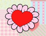 Coração flor