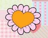Desenho Coração flor pintado por clagus