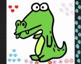 Crocodilo a saudar