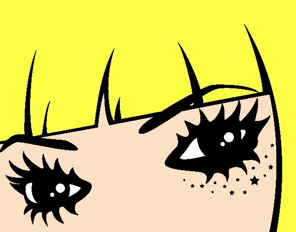 Desenho De Menina Tumblr Pintado E Colorido Por Usuário Não