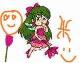 Desenho  Fada da flor pintado por glauraevel