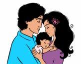 Família abraço