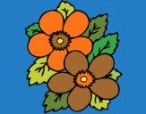 Desenho Flores 1 pintado por LuuhCruz