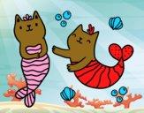 Desenho Gatos da sereia pintado por BIELLA