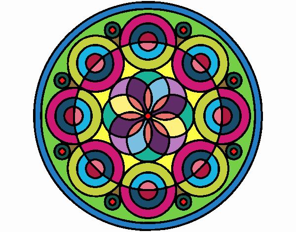 Desenho Mandala 35 pintado por nicknice
