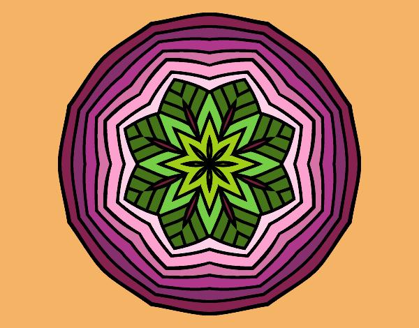 Desenho Mandala aéreo pintado por nicknice