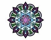Desenho Mandala vida vegetal pintado por Anilice