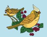 Desenho Pássaros pintado por Craudia