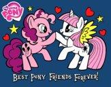 Desenho  Pony Melhores amigos para sempre pintado por mcra