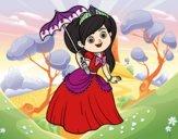 Princesa com pára-sol