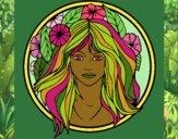 Desenho Princesa do bosque 2 pintado por Nefa