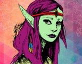 Desenho Princesa elfo pintado por Nefa