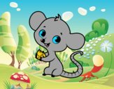 Desenho Rato bebê pintado por ImShampoo