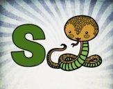 Desenho S de Serpente pintado por Craudia