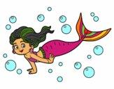 Desenho Sireia do mar pintado por glauraevel