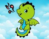 Desenho Um dragão bebê pintado por BIELLA