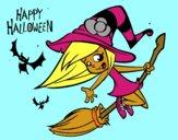 Desenho Uma bruxa do Dia das bruxas pintado por martinhasr