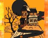 Desenho Casa encantada pintado por Natani