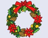 Desenho Coroa de flores natalícias pintado por Craudia