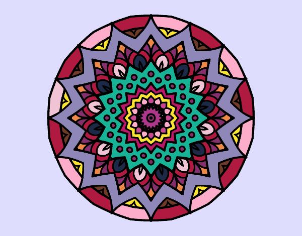 Desenho Crescente mandala pintado por Ritagomes1