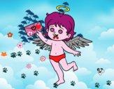 Cupido com letra de amor