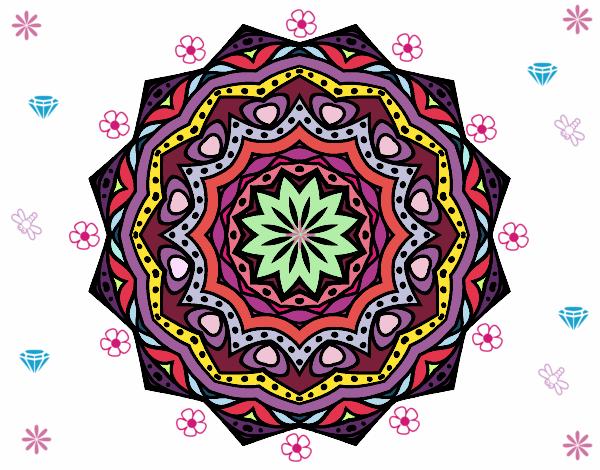 Desenho Mandala com estrato  pintado por larartes