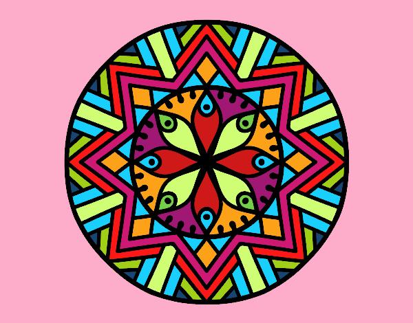 Desenho Mandala flor de bambu pintado por Ritagomes1