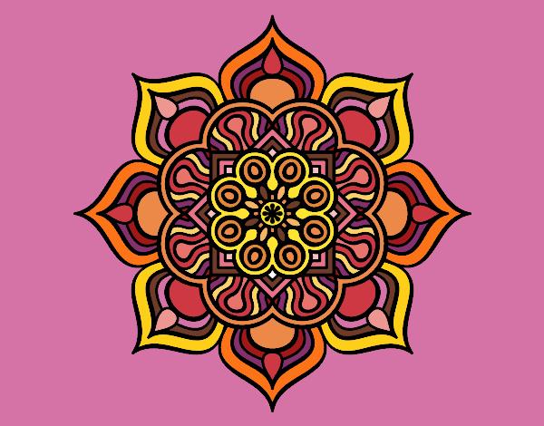 Desenho Mandala flor de fogo pintado por Ritagomes1