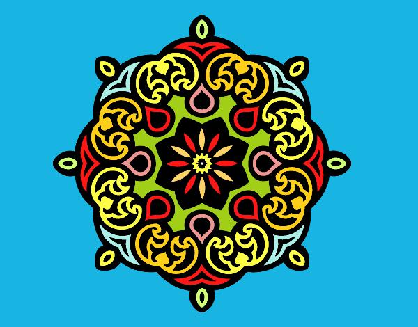 Desenho Mandala nuvem pintado por Ritagomes1