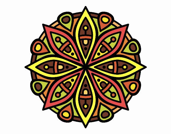 Desenho Mandala para a concentração pintado por Ritagomes1
