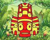 Máscara mexicana dos rituais