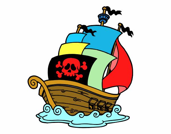 Desenho De Navio De Piratas Pintado E Colorido Por Usuário