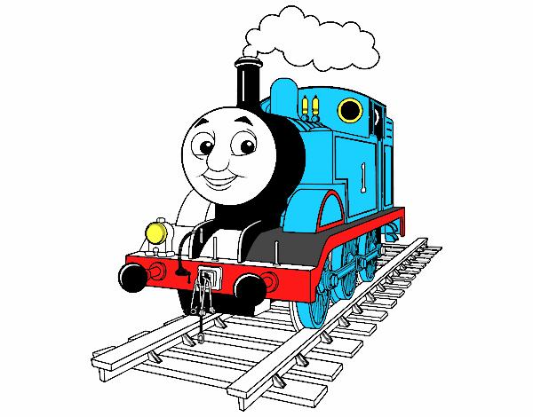 Desenho De Thomas A Locomotiva Pintado E Colorido Por