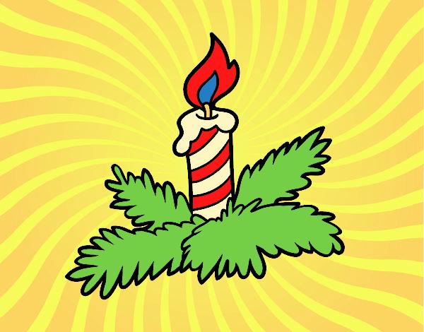 Desenho De Vela Do Natal Pintado E Colorido Por Usuário