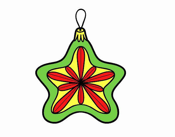 Decoração de Natal estrela