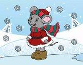Desenho Ratita abrigada de Natal pintado por Keithy