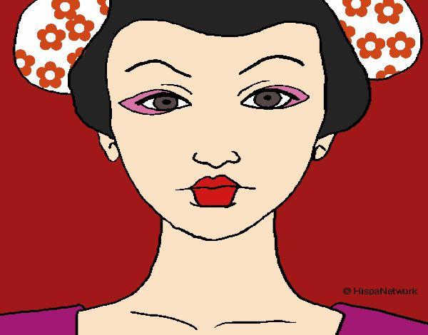 Cara de geisha