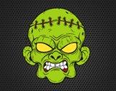 Desenho Cara de zombie pintado por ThaySilvaa