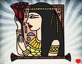 Desenho Cleopatra pintado por away