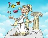 Desenho Deusa Atena pintado por Keithy